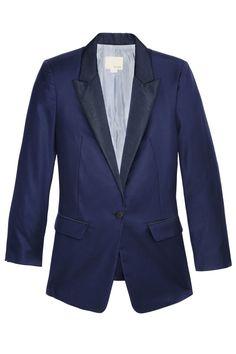 9) A Blue Blazer  - HarpersBAZAAR.com
