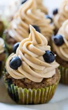 Blueberry Maple Cupcakes - tastes like the cupcake version of blueberry pancakes. The Maple Buttercream is to die for.