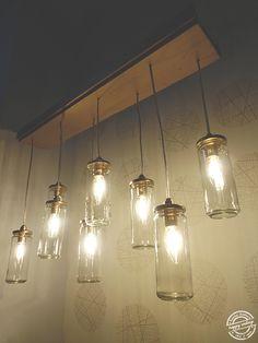 Candeeiro construído através de frascos reciclados. || Lamp built using recycled bottles. Happy Ending :)