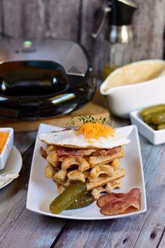 Cheddaros gofri recept Waffles, Pancakes, Russel Hobbs, Tacos, Breakfast, Ethnic Recipes, Food, Morning Coffee, Essen