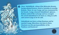 Story from Adi Parva, Mahabharata. #Mythology #Mahabharata #Ganga