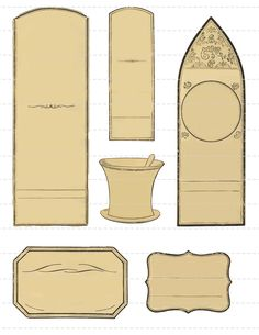 Blank Apothecary Labels