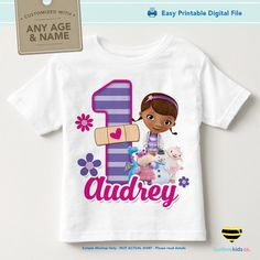 Doc McStuffins Birthday Design | Purple Stripes - LuvibeeKidsCo