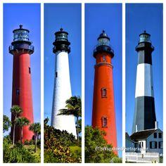 Left to right: Jupiter, FL; Key Biscayne, FL; Ponce Inlet, Fl; Typee Island, GA