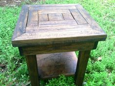 Designed and created by Tide Life Southern Coastal Living, this unique side table was completely crafted from an heirloom table leaf. http://www.facebook.com/gulfcoasttidelife