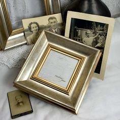 4x4 Square Deluxe Silver Photo Frame in Simple par mackenzieframes, $30,00