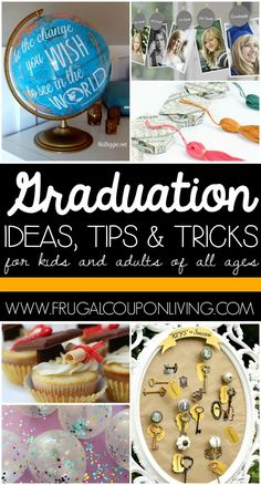 Graduation Tips, Ideas and Tricks for your graduate - Kindergarten to Collegiate - there should be something for everyone on Frugal Coupon Living. Graduation Party Themes, Graduation Day, Grad Parties, Preschool Graduation, Graduation Celebration, Retirement Parties, Retirement Gifts, Retirement Ideas, School Gifts