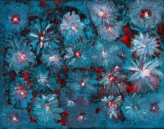 Splashed Abstracted Flowers