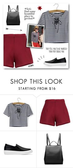 """The Worst Enemy To Creativity Is Self-doubt - Yoins XXXV"" by paradiselemonade ❤ liked on Polyvore featuring Old Navy, yoins, yoinscollection and loveyoins"