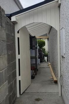 Backyard Gates, Backyard Sheds, Backyard Landscaping, Patio Design, Garden Design, House Design, Outside Living, Outdoor Living, Garden Bike Storage