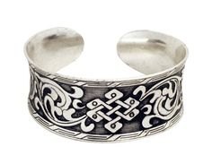 Chinese Knot Silver Cuff Bracelet International. $29.00. lifetime warranty, satisfaction guaranteed. comes gift boxed, ships immediately. classic Chinese knot and floral design. Save 36%!