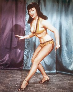 We don't all have killer curves like Bettie Page, but we try to help them along!
