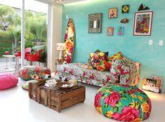 Pegamos CHITA, o tecido coringa, e criamos decorações Únicas para nossa casa ficar Mais Colorida , Confira os modelos...