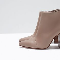 ZARA - WOMAN - POINTY HIGH HEELED LEATHER BOOTS