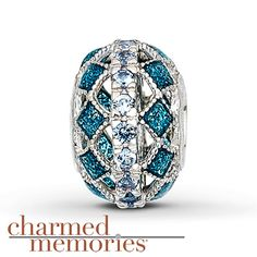 Charmed Memories® Teal Cathedral Charm Sterling Silver
