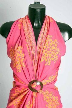 how to wear sarong and sash