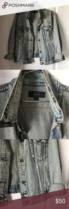 """JCrew indigo denim jacket Size XL, but I'm a small and love wearing things oversized. So basically fits up to a XL but down to a small if you like that boyfriend fit. I just cuffed he sleeve :) Worn a few times, no signs of wear. Smoke free home, no trades. Measurements laying flat: pit to pit 19.5"""", top to bottom 23"""", arm length from shoulder seam 23.5"""" j.crew Jackets & Coats Jean Jackets"""