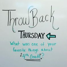 Throwback Thursday - What was one of your favorite things about grade? Journal Topics, Journal Prompts, Journals, Morning Activities, Daily Activities, Morning Board, Daily Writing Prompts, Bell Work, Responsive Classroom