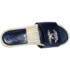 depot vente de luxe en ligne - Luxury eshop online - CHANEL mules claquettes en cuir noir et sigle cc   TendanceShopping.com