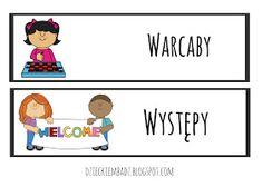 Dzieckiem bądź: Ilustrowany plan dnia DO POBRANIA Education, Comics, Logos, Logo, Cartoons, Onderwijs, Learning, Comic, Comics And Cartoons