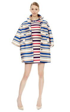 Stripe Sport Coat by MSGM Now Available on Moda Operandi