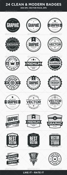 24 Clean and Modern Badges - GraphicRiver Item for Sale
