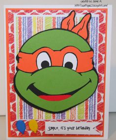 Crafty Girl 21!: Ninja Turtle Card