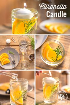 There's no need to buy expensive candles when you can simply make your own with real slices of Florida Oranges! Follow these easy steps and you'll soon have a citronella candle for your home that's even fresher than a store-bought one, for almost zero cost!