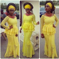 yellow lace asoebi