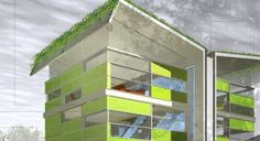 Green Design Collaborations: Blu Homes and mkDesigns Merge to Make (Pre)Fab Green Houses Architecture People, Green Architecture, Mushroom House, Eco Friendly House, Shipping Container Homes, Prefab Homes, House Made, Interior Inspiration, Inventions