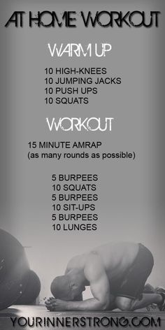 At home workout AMRAP