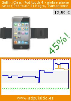 Griffin iClear, iPod touch 4 - mobile phone cases (iPod touch 4) Negro, Transparente (Electrónica). Baja 45%! Precio actual 12,59 €, el precio anterior fue de 22,98 €. http://www.adquisitio.es/griffin-technology/griffin-iclear-ipod-touch