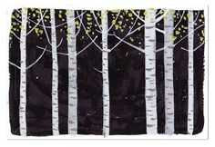 silver birch, limited pallet, like this one a lot