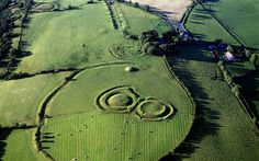 Round Earthworks at the Hill of Tara, County Meath, Leinster, Ireland.