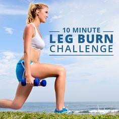 10 Minute Leg Burn Challenge