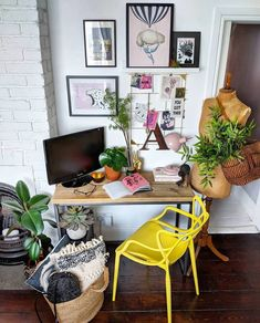 Throwing it back to this time last year as we had another rubbish day weather wise and it's just too dark to take any decent pics😏 hope you… Future Office, Big Yellow, Office Art, Interior Inspiration, This Is Us, New Homes, Ikea, Interior Design, Chair