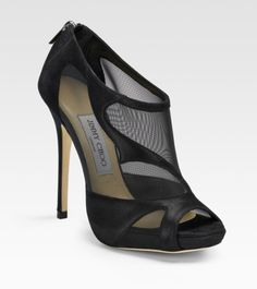 black mesh stiletto sandals | Jimmy Choo Marble Suede & Mesh Sandals in Black | Lyst
