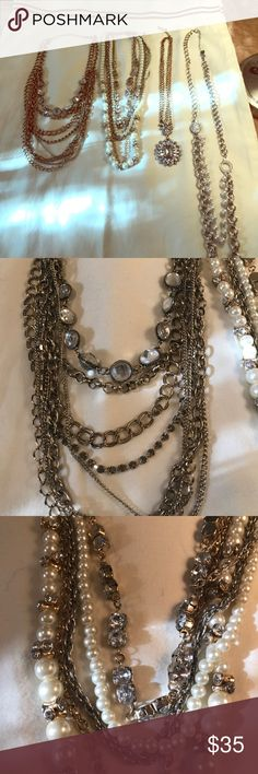 Diamonds and Pearls Four necklaces-- excellent condition. Jewelry Necklaces