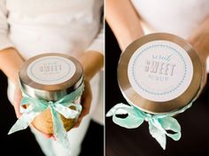 DIY Body Scrub ~ This is a scrumptious DIY body scrub using sugar. The tutorial includes really cute printable labels, add a ribbon and you have a beautiful gift for mom this Mother's Day!