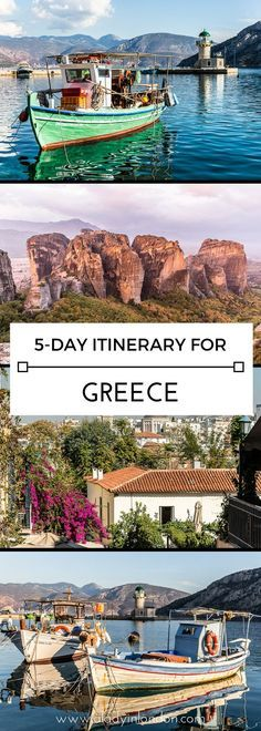 A 5-day itinerary for Greece, including Athens, Delphi, and Meteora #athens #delphi #meteora #greece #europe #travel #itinerary