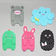 monster bookmarks (for doing with the kids at school) Cute Crafts, Felt Crafts, Diy And Crafts, Arts And Crafts, Diy For Kids, Crafts For Kids, Monster Bookmark, Diy Paper, Paper Crafts