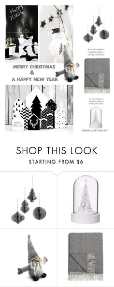 """Merry Christmas and a Happy New Year"" by efashiondiva7 ❤ liked on Polyvore featuring interior, interiors, interior design, home, home decor, interior decorating, Broste Copenhagen, Sockerbit and Bronte by Moon"
