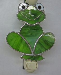 Frog Night Light Stained Glass.