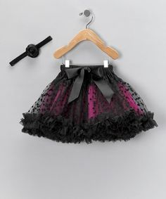 Pink & Black Pettiskirt & Headband - Infant, Toddler & Girls by AdoraBelle Pettiskirts on #zulily
