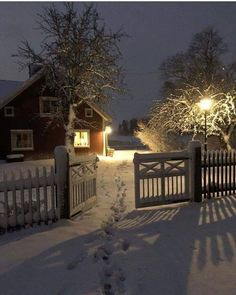 Lovely winter night December 29 2019 at Winter Szenen, Winter Magic, Winter Night, Christmas Scenes, Cozy Christmas, Reindeer Christmas, Beautiful Homes, Beautiful Places, House In Nature