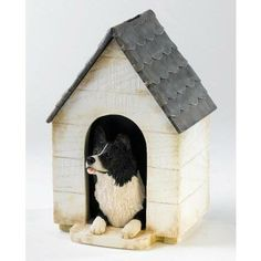 Border Fine Arts Border Collie in Kennel Money Box