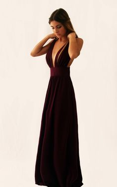 """Cinderella"" evening #dress in burgundy"