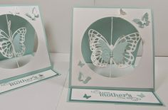 Stampin' Up! Butterflies Thinlits:  Mother's Day Easel Suspension Spinning Card