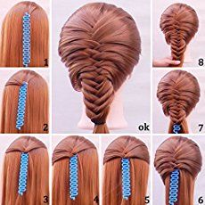 Shells Blue Color Sport Braider Hairstyling Tool French Hair Braiding Tool With Instruction ** To view further for this article, visit the image link. Half Braided Hairstyles, Boho Hairstyles, Braids For Kids, Braids For Short Hair, Black Braids, French Braid Tool, French Plaits, Triangle Box Braids, Natural Hair Styles