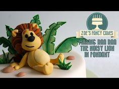 Making Raa Raa the noisy lion in fondant icing figure decoration - YouTube